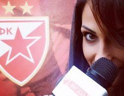 Una reportera deportiva de Serbia, a punto de ser despedida por desconcentrar a los jugadores con su espectacular físico