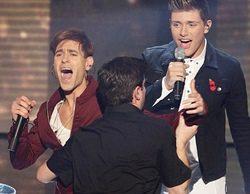Un Jimmy Jump se cuela en la actuación en directo de Stereo Kicks en 'The X Factor'