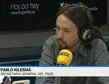 Doble metedura de pata de TVE: La 1 confunde a Pablo Iglesias con el líder del PSOE y La 2 con el de Izquierda Unida