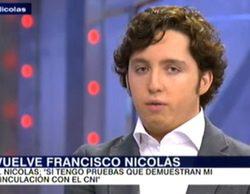 'Un tiempo nuevo' (16,7%) sube y vuelve a liderar con el Pequeño Nicolás y 'laSexta Noche' (10,6%) baja con Cospedal