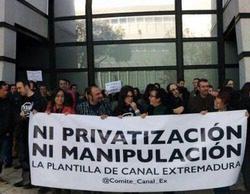 Huelga en Canal Extremadura TV contra el proceso de privatización de los servicios informativos y la manipulación informativa