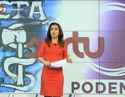 Telemadrid mezcla a ETA, Podemos y Sortu en una infografía de sus informativos