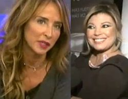 María Patiño presentará 'Sálvame deluxe' en Navidad y Terelu se molesta con una reportera