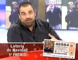 Daniel Montero, colaborador de 'El programa de Ana Rosa', se entera en directo de que le ha tocado la Lotería