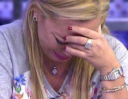 """Belén Esteban llora emocionada en su despedida de 'Sálvame': """"Me preocupa lo que la gente pueda decir de mi en 'GH VIP"""""""