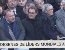 """Indignación y burlas contra TV3 por incluir a Artur Mas entre los """"líderes mundiales"""" de la manifestación de París"""
