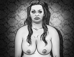 Belén Esteban desnuda en una ilustración de Ismael Álvarez