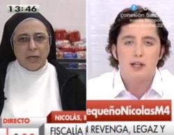 """Sor Lucía Caram se enzarza con Francisco Nicolás en 'Las mañanas de Cuatro': """"Eres un delincuente"""""""