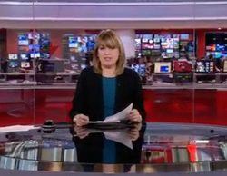 BBC abre con la marcha de Podemos, mientras que en 'Telediario' de TVE es la cuarta noticia