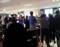 """Los periodistas de TVE se manifiestan contra la redacción paralela: """"No con nuestros impuestos"""""""