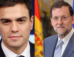 Rajoy gana la batalla de las audiencias a Pedro Sánchez
