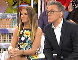 Kiko Hernández traslada su silla en 'Sálvame deluxe' ya que sus compañeros dan la espalda a Belén Esteban