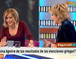 """Susanna Griso arremete contra Esperanza Aguirre: """"Te encuentras con ella hasta en la sopa"""""""