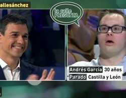 Indignación en las redes por el trato de Pedro Sánchez a un espectador con Síndrome de Down en 'laSexta noche'