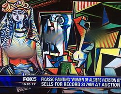Fox censura los pechos y genitales de 'Las mujeres de Argel' de Picasso