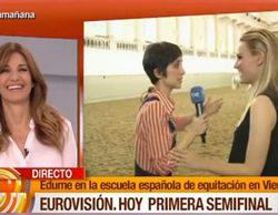 """La encerrona de Mariló Montero a Edurne: """"¿Tu chico (David De Gea) te va a acompañar en Eurovisión?"""