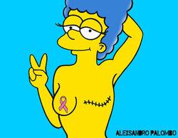 Marge Simpson, superviviente de cáncer de mama, en las nuevas ilustraciones de Alexsandro Palombo