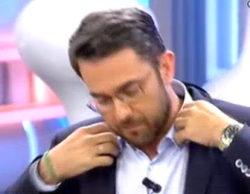 """A Màxim Huerta se le raja la camisa en 'El programa de AR' """"mientras"""" comentaba la liposucción de Alfonso Díez"""