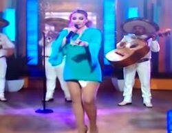 Una cantante mexicana pierde una compresa en directo en televisión