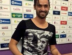 Nuno Silva, fichaje del Real Jaén CF, se presenta ante los medios con una camiseta de Franco