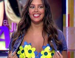 El gran susto de Cristina Pedroche en 'Zapeando': casi enseña las tetas mientras se las tocaba