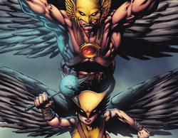 Hawkman y Hawkgirl lucen sus trajes para 'Legends of Tomorrow'