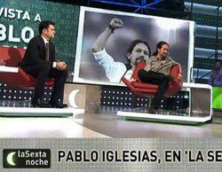 Pablo Iglesias vuelve a pisar el plató de 'laSexta noche'... seis meses después