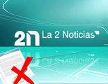 Los trabajadores de 'La 2 noticias' se plantan y no firman una emisión por la supresión de una noticia