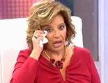 """María Teresa Campos rompe a llorar en directo: """"Terelu, no tengo fuerzas para apoyarte"""""""