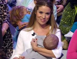 Cristina Lasvignes sorprende en 'Esto es vida' dando el pecho a su hijo en directo