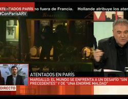 laSexta decepciona con su falta de cobertura a los atentados de París, pero reacciona con 'Al rojo vivo' y 'Más vale tarde'