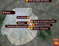 El informativo '24h noticias' (5,9%) vuelve a destacar en la mañana del sábado tras los atentados de París