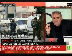 'Al rojo vivo' adelanta su emisión con motivo de la operación policial en Saint-Denis