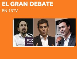 13tv ofrecerá este lunes el debate entre Sánchez, Rivera e Iglesias organizado por El País
