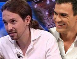 Pablo Iglesias gana la batalla por las audiencias en 'El hormiguero' y Pedro Sánchez queda último