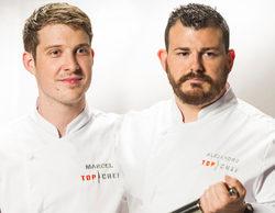 Marcel y Alejandro, finalistas de 'Top Chef' dejando a Mari Paz a las puertas