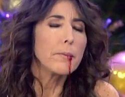 """Paz Padilla """"vomita"""" sangre en 'Sálvame' y alarma a sus compañeros"""