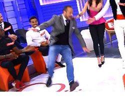 Nacho Montes se cae al intentar imitar a David Bisbal en 'Mujeres y hombres y viceversa'