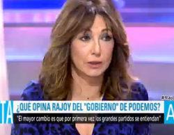 """Ana Rosa, criticada en las redes sociales por su trato benévolo a Mariano Rajoy: """"Solo le faltaba darle un beso de tornillo"""""""
