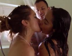 Trío en la ducha de 'Super Shore' con topless de Mane y Karime con Esteban