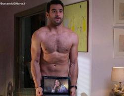 El personaje de Antonio Velázquez es pillado desnudo en 'Buscando el norte'