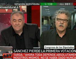 """Advertencia de Joan Tardà a Antonio G. Ferreras ('Al rojo vivo'): """"Vigile que no le echen del trabajo. No se fíe"""""""