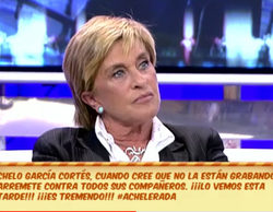 "'Sálvame' pilla a Chelo García Cortés criticando a sus compañeros: ""Soy la única con categoría ahí"""