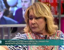 'Sálvame deluxe' (20,4%) crece con la decisión de Mila Ximénez, dejando con nuevo mínimo a 'Allí abajo' (16,9%)