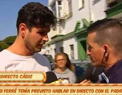 Encontronazo en directo entre Alejandro Nieto y un reportero de 'Sálvame'