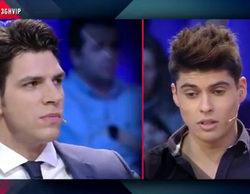 """Diego Matamoros """"amenaza"""" a Javier Tudela en el plató de 'Gran Hermano VIP': """"Os van a coger a todos"""""""