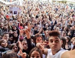 Madrid acogió las manifestaciones para apoyar a Carlos Lozano y Laura Matamoros en 'Gran hermano VIP'