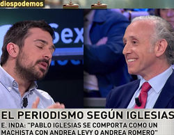 """Inda ('laSexta noche') sobre los ataques de Pablo Iglesias a la prensa: """"Es un fascista"""""""