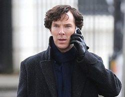 Nuevas imágenes del rodaje de la 4ª temporada de 'Sherlock' con el bebé de Watson