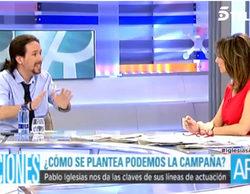 """Pablo Iglesias ('El programa de Ana Rosa'): """"TVE y Telemadrid son el cortijo del PP"""""""